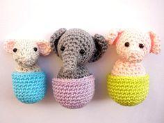 Refrigerator animals magnet set by Crochetonatree on Etsy