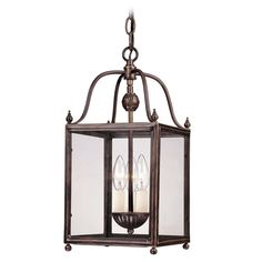 Savoy House Savoy House Old Bronze Mini-Pendant Light with Square Shade 3-80029-3-323