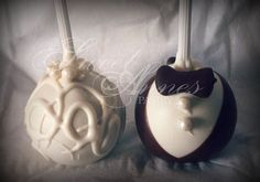Almond groom and bride cake pops. Brides Cake, Cake Art, Cake Pops, Almond, Wedding Cakes, Groom, Cupcakes, Cookies, Wedding Gown Cakes