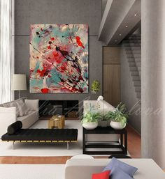 Asian Wall Art, Abstract Painting, Zen painting, Print, Large Abstract Canvas…