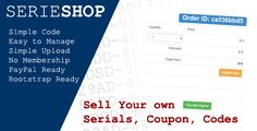 SerieShop - Simple Serials, Coupon, Vouchers Store