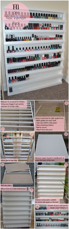 Nail Varnish Rack Storage - DIY Tutorial