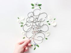 Paper cut lettering by Charlotte Smith