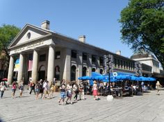 Quincy Market foodhall and location of very very good ice cream! Boston
