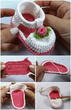 Make a cute pair of baby booties and a headband. Favorite Baby Shoes Crochet Patterns - Adorable - A More Crafty Life crochet crochetpattern baby affiliate Crochet Pig, Crochet Baby Boots, Crochet Baby Sandals, Booties Crochet, Baby Girl Crochet, Crochet Baby Clothes, Crochet Slippers, Crochet Shoes, Crochet Headbands