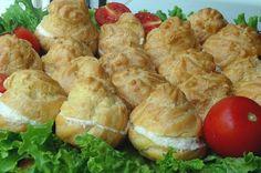 gogosele pt aperitive Finger Food Appetizers, Finger Foods, Appetizer Recipes, Romanian Food, Romanian Recipes, Potato Salad, Sandwiches, Pizza, Cheese