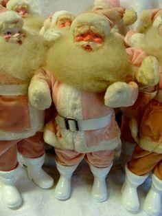One Vintage Christmas Kitsch Pink Harold Gale - Pink Santa Claus Doll N030