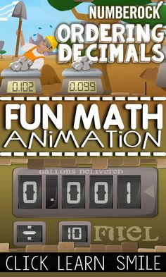 Ad-Free Ordering Decimals Animated Math Video - Comparing Decimals From Least to Greatest