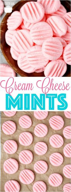 Homemade Cream Cheese After-Dinner Mints recipe from The Country Cook #nobake #nocook #easy #mints #gifts #treats