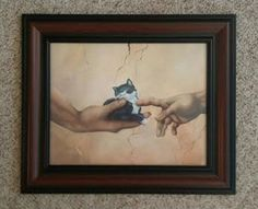 Cat Art Framed Giclee Art Print by NewChapterArts on Etsy