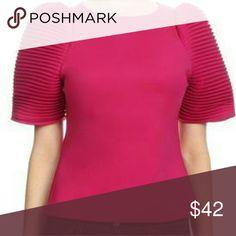 92179b11babc0 Sarafina in Fuschia Ruched sleeve blouse Tops Blouses. House of Ke Chic