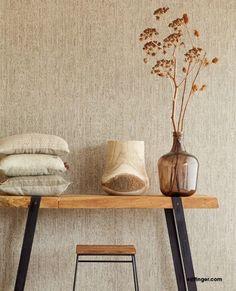 Linen Wallpaper, Interior Wallpaper, Room Wallpaper, Living Room Plan, Home And Living, Japanese Bedroom, Natural Home Decor, Apartment Design, New Room