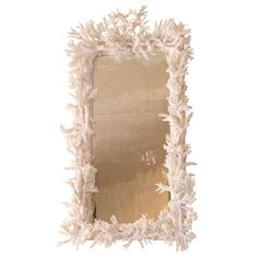 Rare White Coral Mirror | From a unique collection of antique and modern more mirrors at https://www.1stdibs.com/furniture/mirrors/more-mirrors/