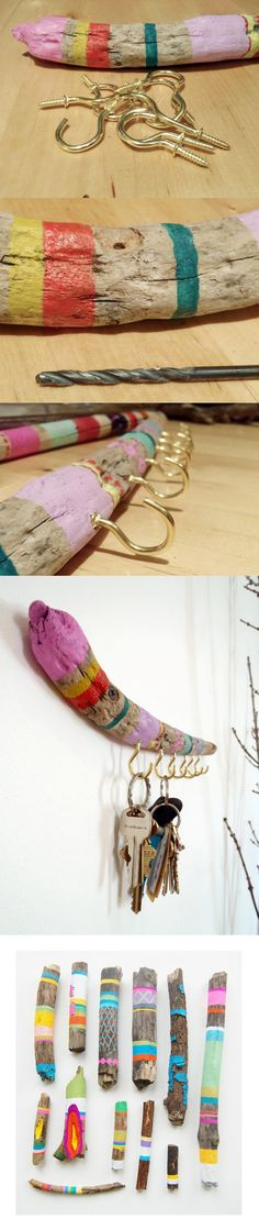 beautifully painted driftwood