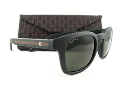 f63b76d75454 New Gucci Sunglasses GG 1113 S D28NR Matte Black Green