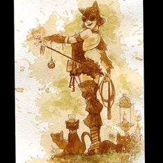 regram @briankesinger #steampunk  #catwoman #teagirls