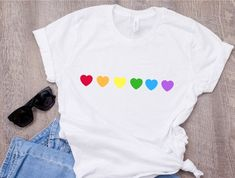 Tumblr T-shirt, Tiger T-shirt, Gay Pride Shirts, Gay Pride Outfits, Tomboy Outfits, Rainbow Outfit, Rainbow Clothes, Rainbow Fashion, Lesbian Gifts