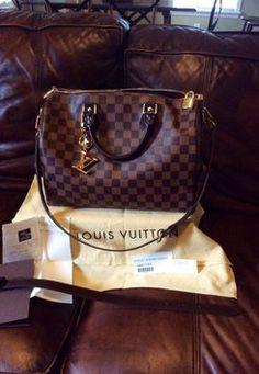 Louis Vuitton Speedy Damier Ebene Bandouliere 30 Brown Bag - Satchel $1,116