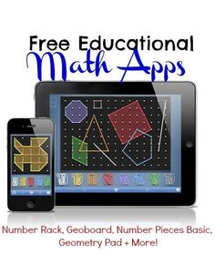 Free Educational Math Apps: Number Rack, Geoboard, Number Pieces Basic, Geometry Pad + More!