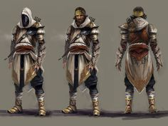Gallery of captioned artwork and official character pictures from Assassin's Creed: Revelations, featuring concept art for the game's characters and environments by Martin Deschambault, Craig Mullins, and Jeff Simpson. Game Character Design, Character Concept, Character Art, Concept Art, Character Ideas, Rogue Character, Character Creation, Game Design, Arte Assassins Creed