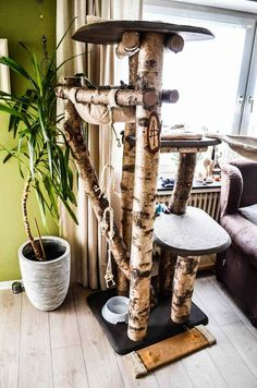 Selfmade picture result for scratching post - result # for tree . Cat Scratching Tree, Scratching Post, Diy Cat Tent, Diy Pinterest, Cat Hacks, Cat Enclosure, Creation Deco, Cats Diy, Cat Room