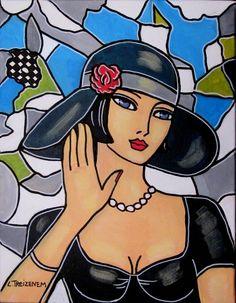 Derzeit versteigert Laurence Treizenem – Moonlight – Laurenc … - My CMS Colorful Paintings, Watercolor Paintings, Original Paintings, Art And Illustration, Namaste Art, Cubist Art, Abstract Face Art, Shiva Art, 1920s Art