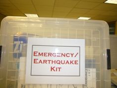 Make your own emergency survival kit for disasters  like an earthquake, tornado, hurricane or flood