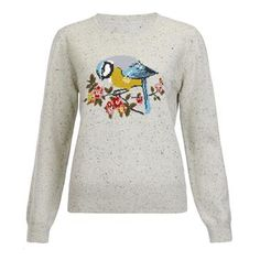 With winters like ours, you need a selection of pretty jumpers to see you through. Just add jeans and boots. flecked yarn contains wool hand knitted intarsia