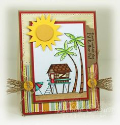 CT0712 DINSP0712 - Coconut Cove Card