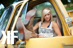 Rachel. Senior 2013 photo shoot in an old truck. www.kennyfelt.com