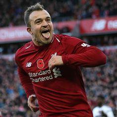 Xerdan Shaqiri Liverpool Fans, Liverpool Football Club, This Is Anfield, Pep Guardiola, Manchester City, Premier League, Boys, Soccer, England