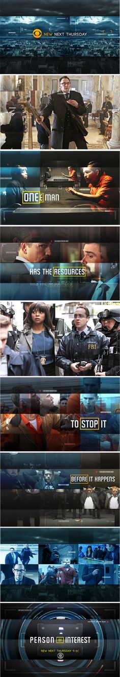 Person of Interest Concept Boards by Monica Helberg, via Behance