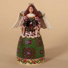 Prepare For Christmas Joy-Christmas Angel With Wreath Figurine - Angel