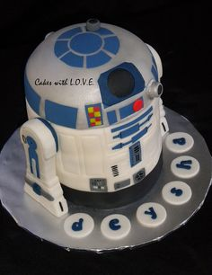 R2D2 Cake- I would love to try this for Marcus!   How cool.