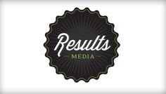 Results Media logo design. #logo #design #type #starburst #retro