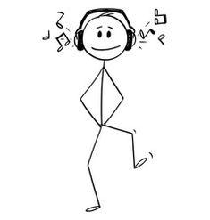 Cartoon happy man walking with big headphones vector Doodle Drawings, Art Drawings Sketches, Cartoon Drawings, Doodle Art, Easy Drawings, Stick Figure Animation, Stick Figure Drawing, Cartoon Smile, Cartoon Crazy