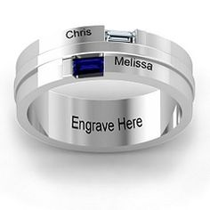Baguette Men's Ring #jewlr  I think I found my gift for my babies Dad.