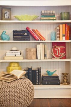 Re-org then relax | Bookshelf design, Small spaces and Organizing