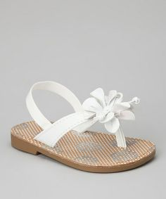 Take a look at this White Flower Primrose Sandal by Natural Steps on #zulily today!