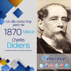 Un día como hoy, 9 de junio, pero de 1870 fallece Charles Dickens, novelista británico de la época victoriana.