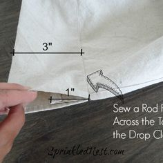She's making super easy, inexpensive outdoor curtains and you'll love how they turned out!