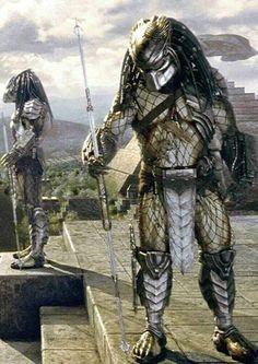 Predator Movie, Alien Vs Predator, Arte Dc Comics, Sci Fi Comics, Science Fiction, Samurai, Star Trek Starships, Alien Races, Robot Concept Art