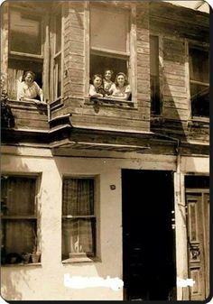 Ayhan street - 1950, Kuzguncuk , Üsküdar (on the Asian side of the Bosphorus)   Istanbul, Turkey.