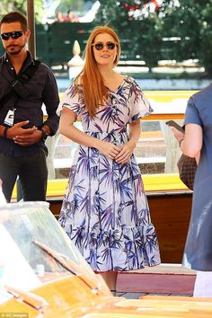 Always glam: It came as no surprise to see Amy Adams was a vision of beauty as…