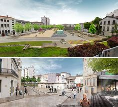 Place de la Fontaine Chaude designed by OKRA in collaboration with OTC Engineering, AAPP Architects, in Dax, France.