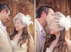 Birdcage viel headpiece by David's Bridal