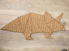 Kostenloses DIY: Fußabtreter in Dinoform schneiden, Dinosaurier für dein zu Hause / Free DIY: Door mat in the shape of a dinosaur via DaWanda.com