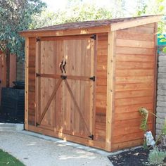 Outdoor Living Today - 8 x 4 SpaceSaver Shed with Double Doors - Default Title - Lawn and Garden  - Yard Outlet