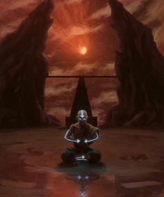 I just noticed the reflection of younger Aang... Avatar Aang, Avatar Legend Of Aang, Avatar Airbender, Team Avatar, Legend Of Korra, Avatar Tattoo, Avatar Series, Iroh, Fire Nation