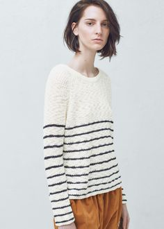 Striped sweater - Cardigans and sweaters for Women   MANGO